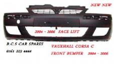 VAUXHALL CORSA  C    MK 2  FRONT BUMPER   2003 - 2006     NEW  NEW   ( IN PRIMER READY FOR PAINT )